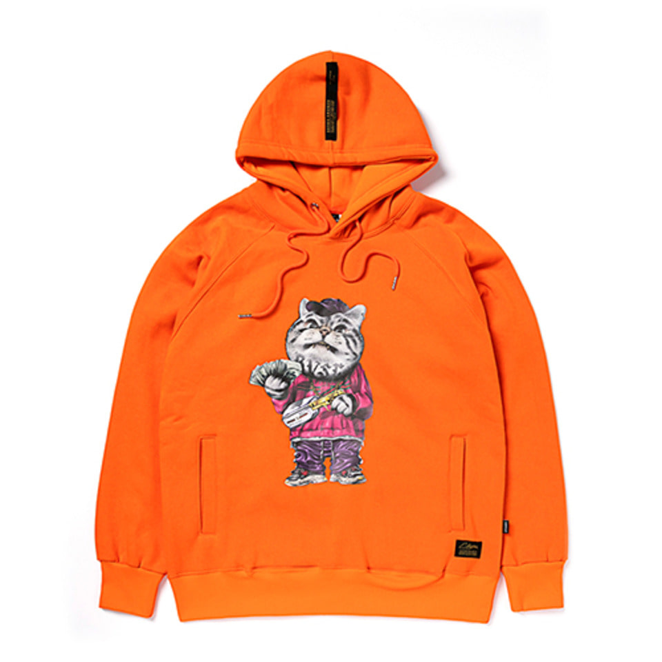[STIGMA]CATSGANG HEAVY SWEAT HOODIE - ORANGE
