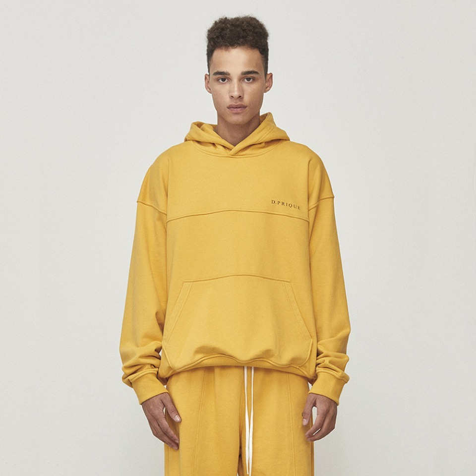 [D.PRIQUE] Oversized Logo Hoodie Yellow (D18F093)