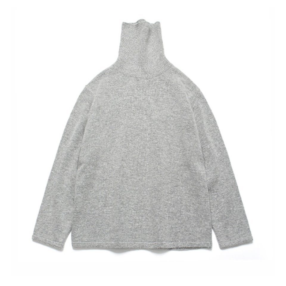 [LAFUDGESTORE] (Unisex)Cashmere Wool Polo Neck Knit_Cloud
