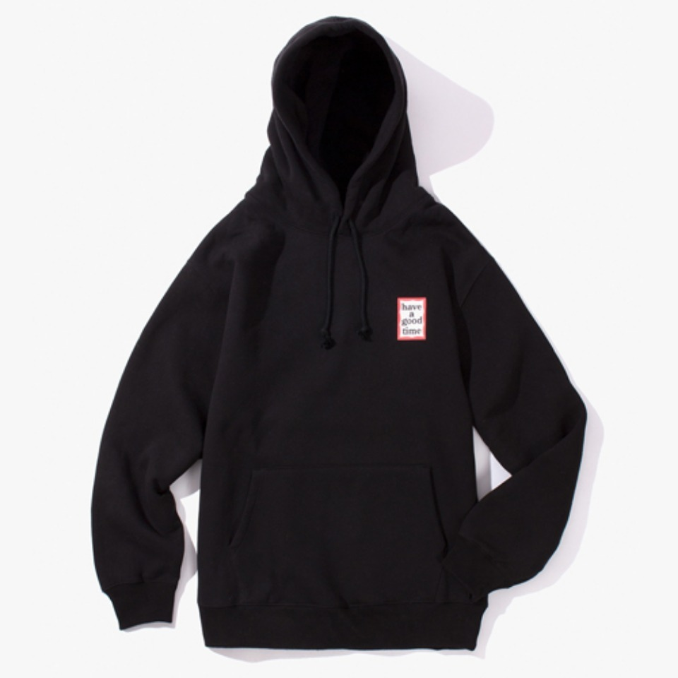 [Have a good time] MINI FRAME PULLOVER HOODIE - BLACK