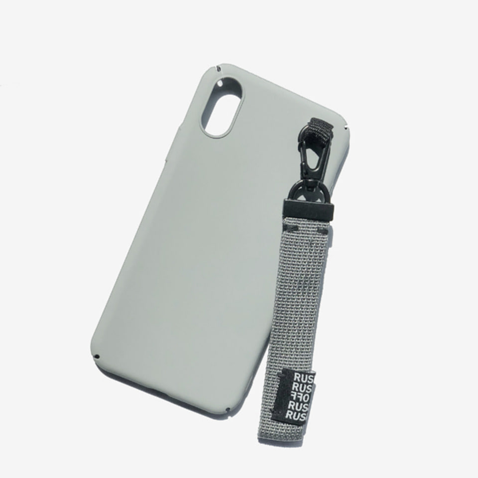 [RUSHOFF] Unisex Casual Belt Keyring I-Phone Case-Gray / 캐주얼 벨트키링 아이폰케이스-그레이