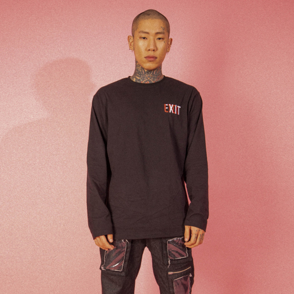 [LTCK] EXIT Logo Long Sleeve - BLACK