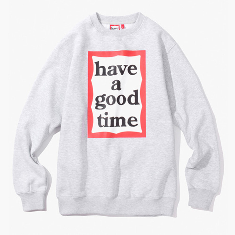 [Have a good time] FRAME CREWNECK - HEATHER GREY