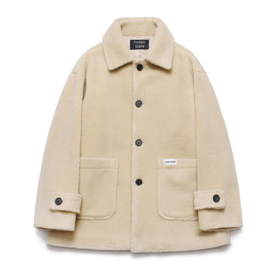 [LAFUDGESTORE] [10/26 예약발송] Fleece Over Half Coat_Beige