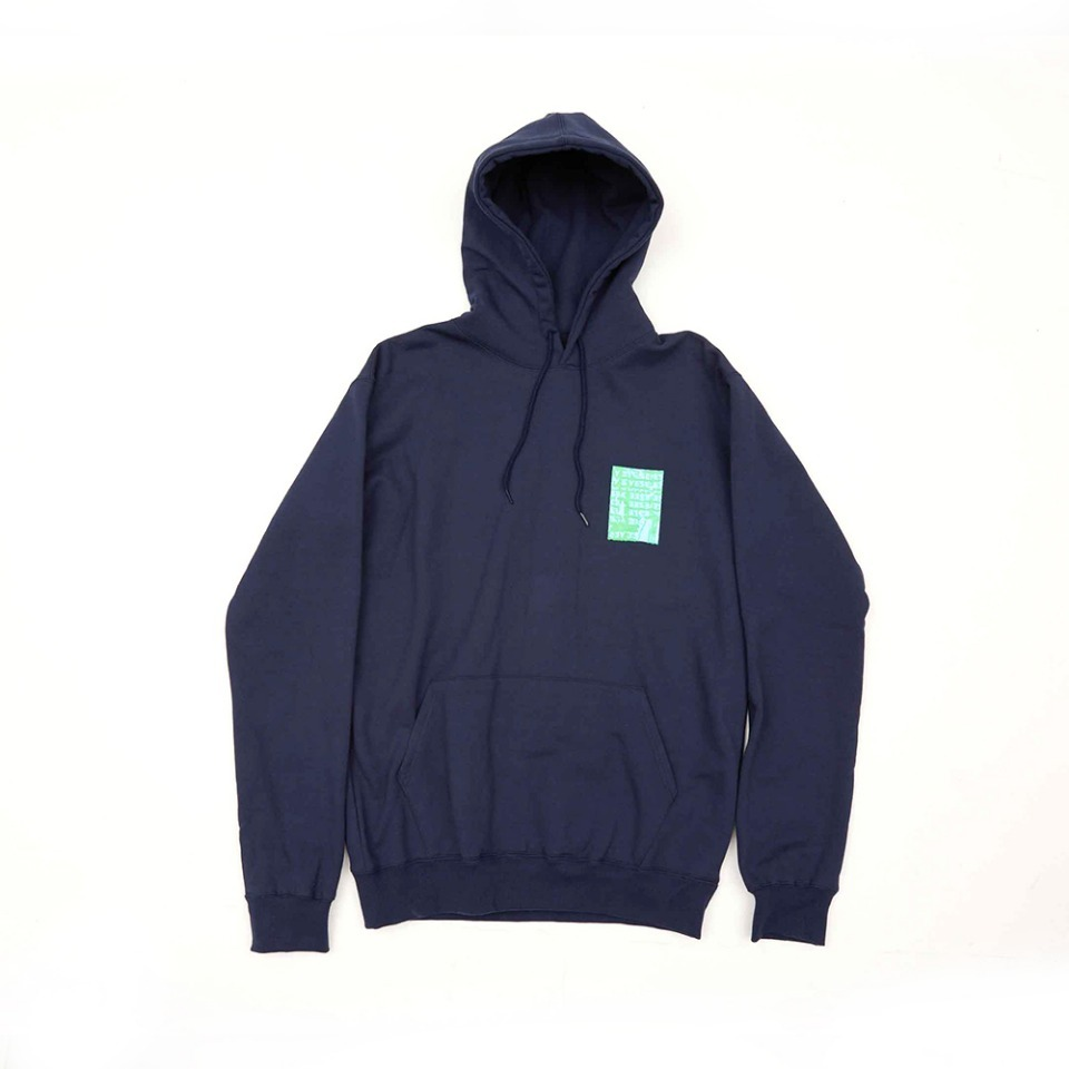 [yeseyesee] COMPLEX BOX HOODIE NAVY