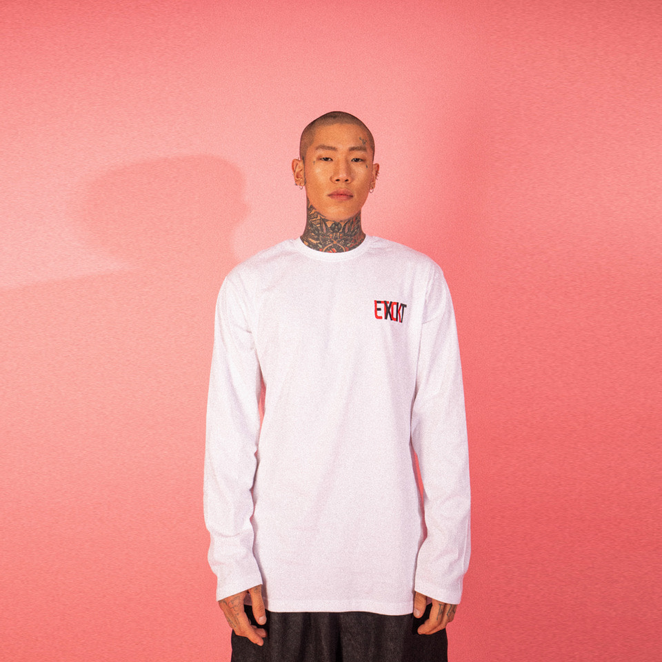 [LTCK] EXIT Logo Long Sleeve - WHITE