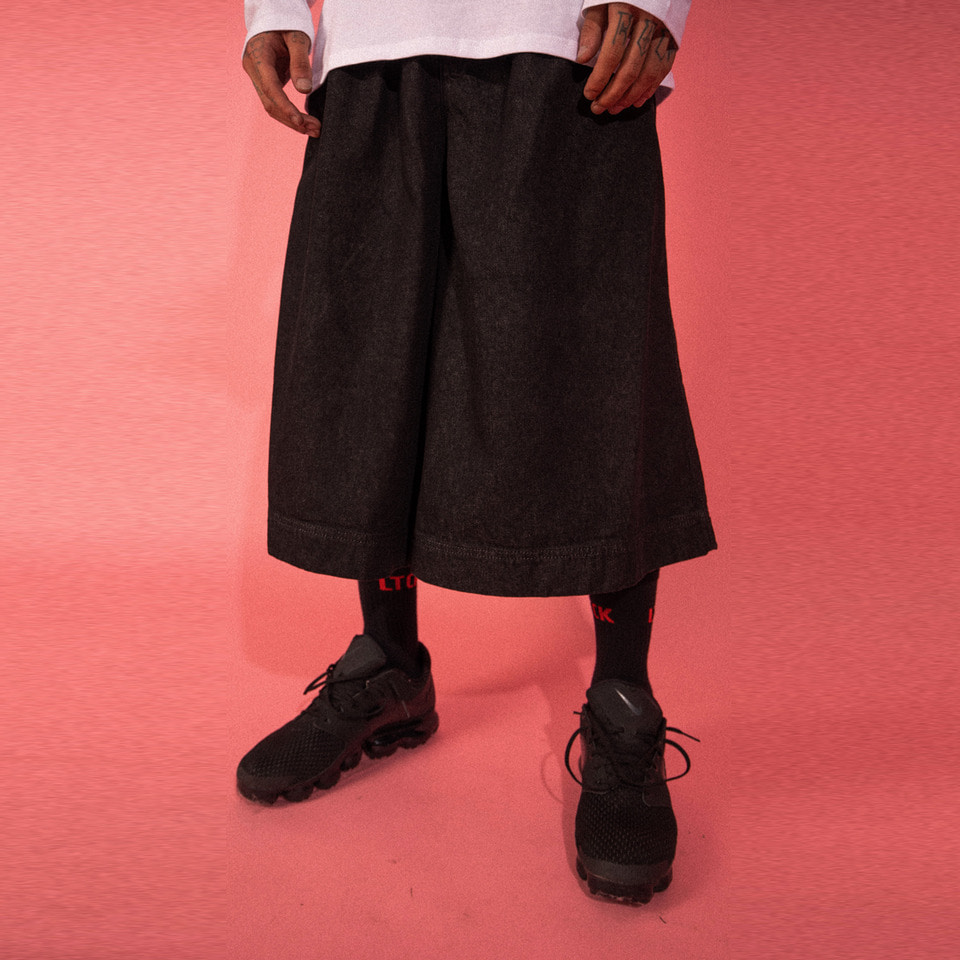 [LTCK] Denim Skirt Pants