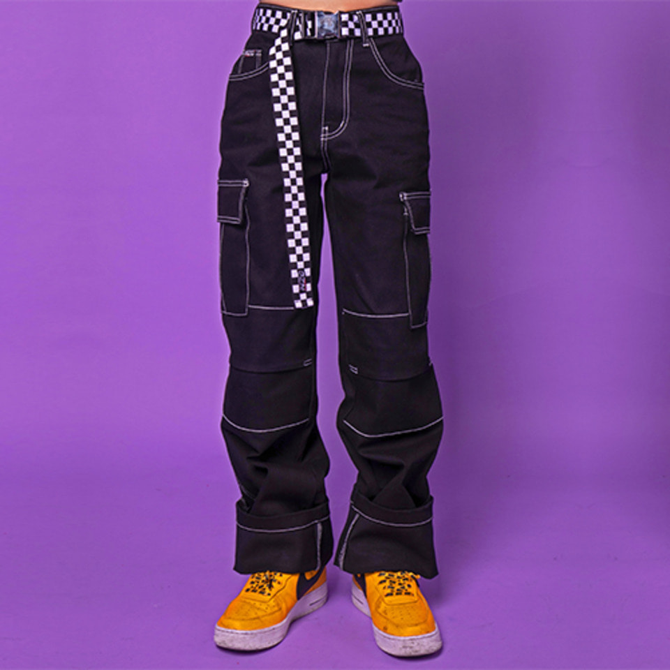 [Noizy Company] DENIM STICH PANTS (BLACK)