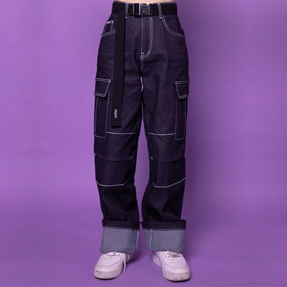 [Noizy Company] DENIM STICH PANTS (INDIGO)