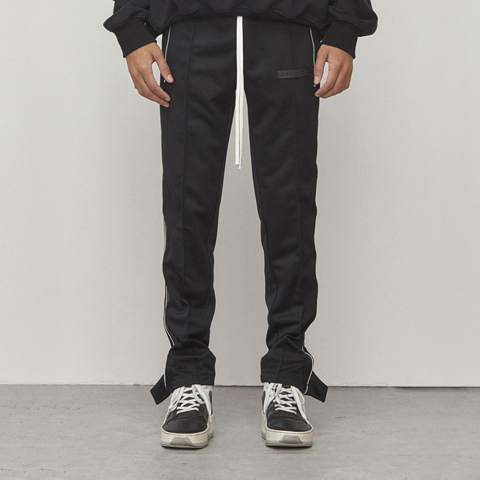 [D.PRIQUE] Track Zipper Pants Black (D18F211)