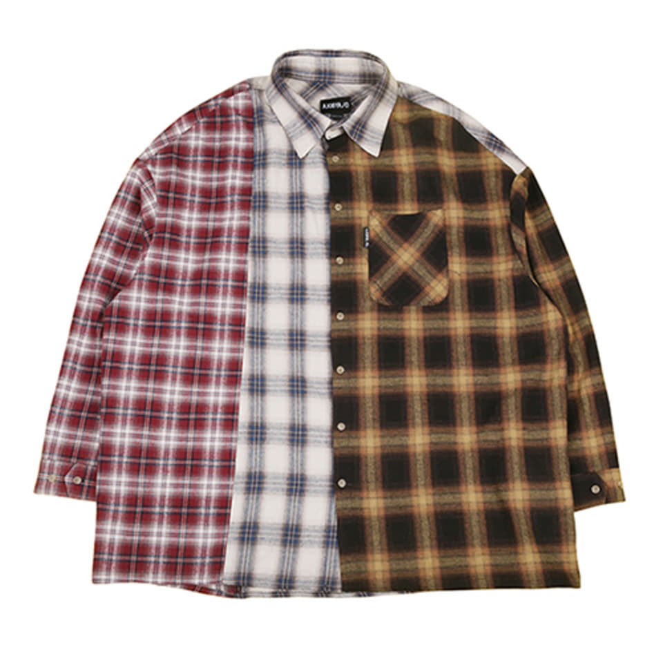 [AJOBYAJO] Tri Check Shirt [Yellow]
