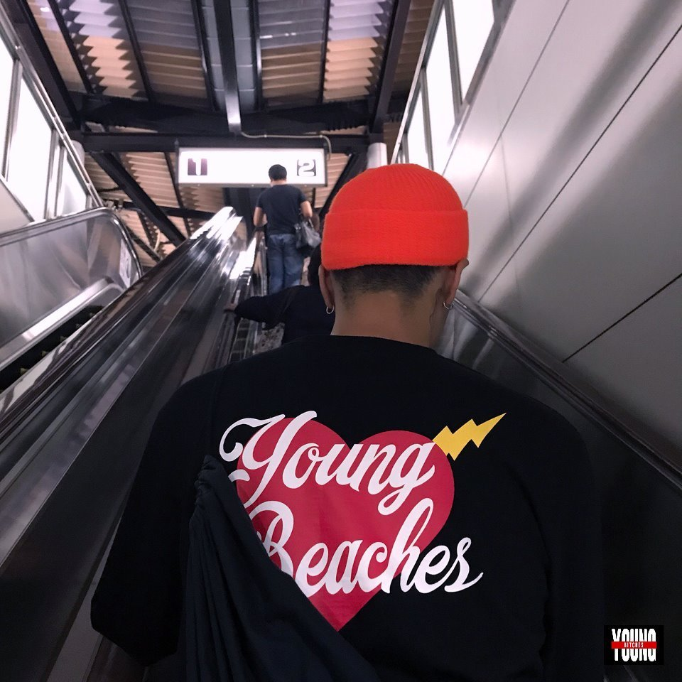 [YBCS] Youngbeaches Heart Long Sleeve 하트로고슬리브 (Black)