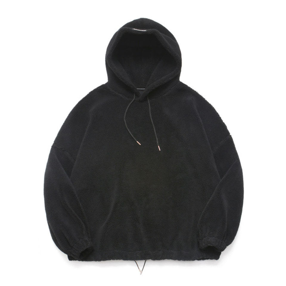 [LAFUDGESTORE] Fleece Over Hoodie Anorak_Black
