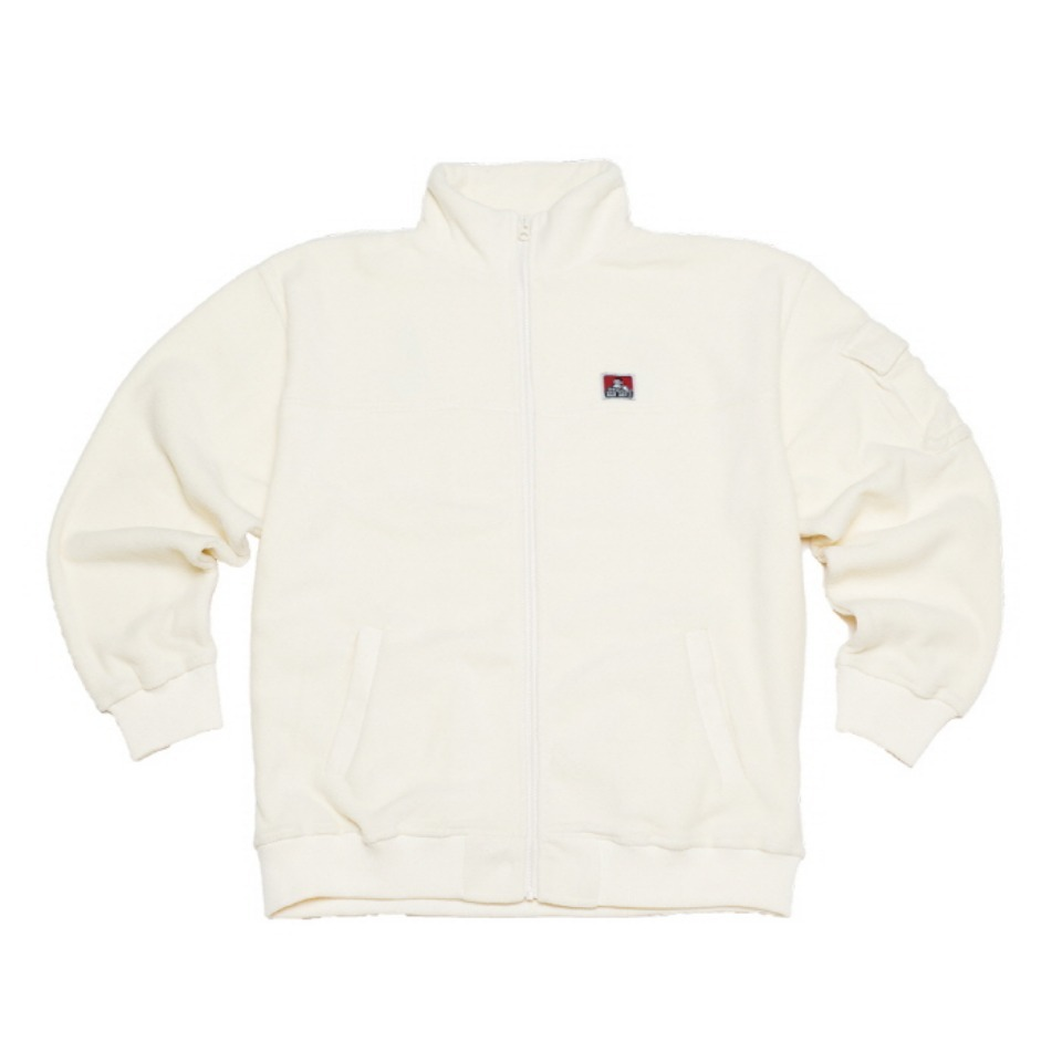 [Ben Davis] FLEECE H/N ZIP - OFF WHITE