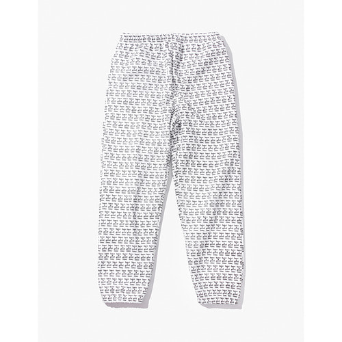 [Have a good time] LOGO ALLOVER SWEAT PANTS - WHITE