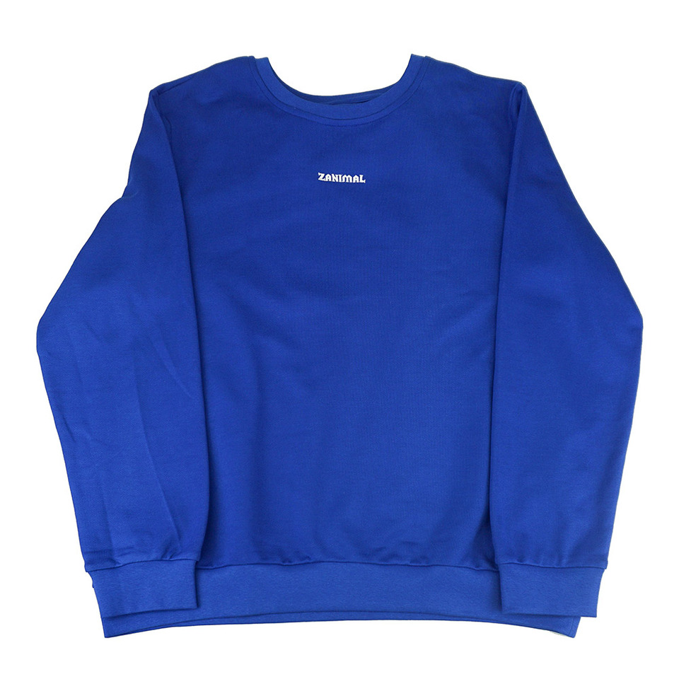 [ZANIMAL] SM Basic Sweatshirts Blue