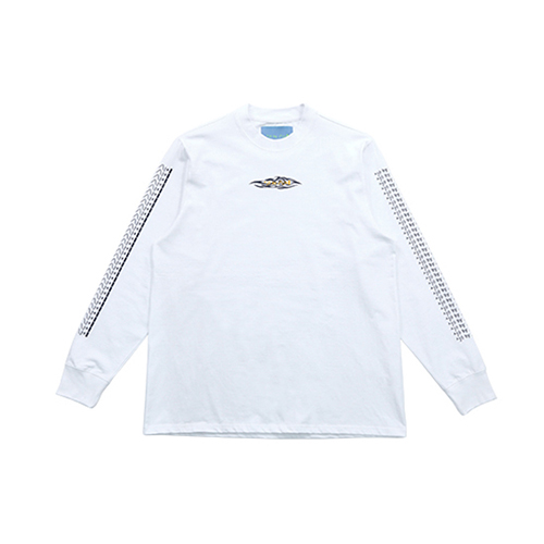 [AJOBYAJO FINK LABEL] Tribal Long Sleeve T-Shirt [White]