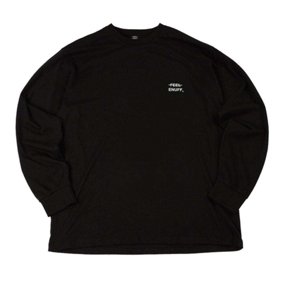 [Feel Enuff] LOGO L/S - BLACK