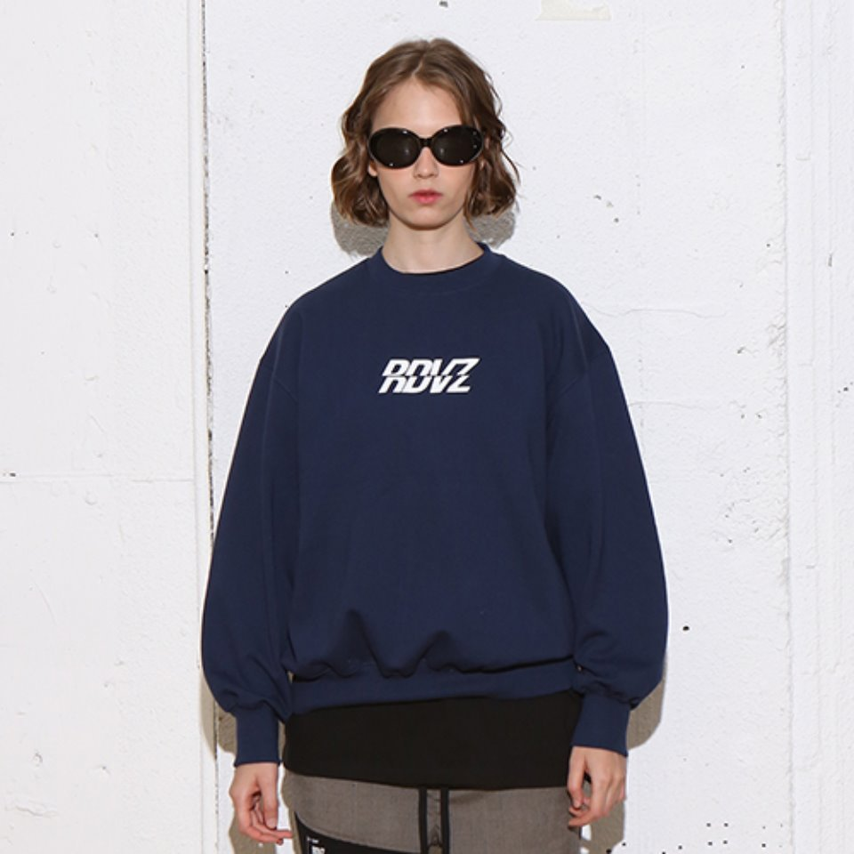 [RENDEZVOUZ] RDVZ SWEAT TOP NAVY