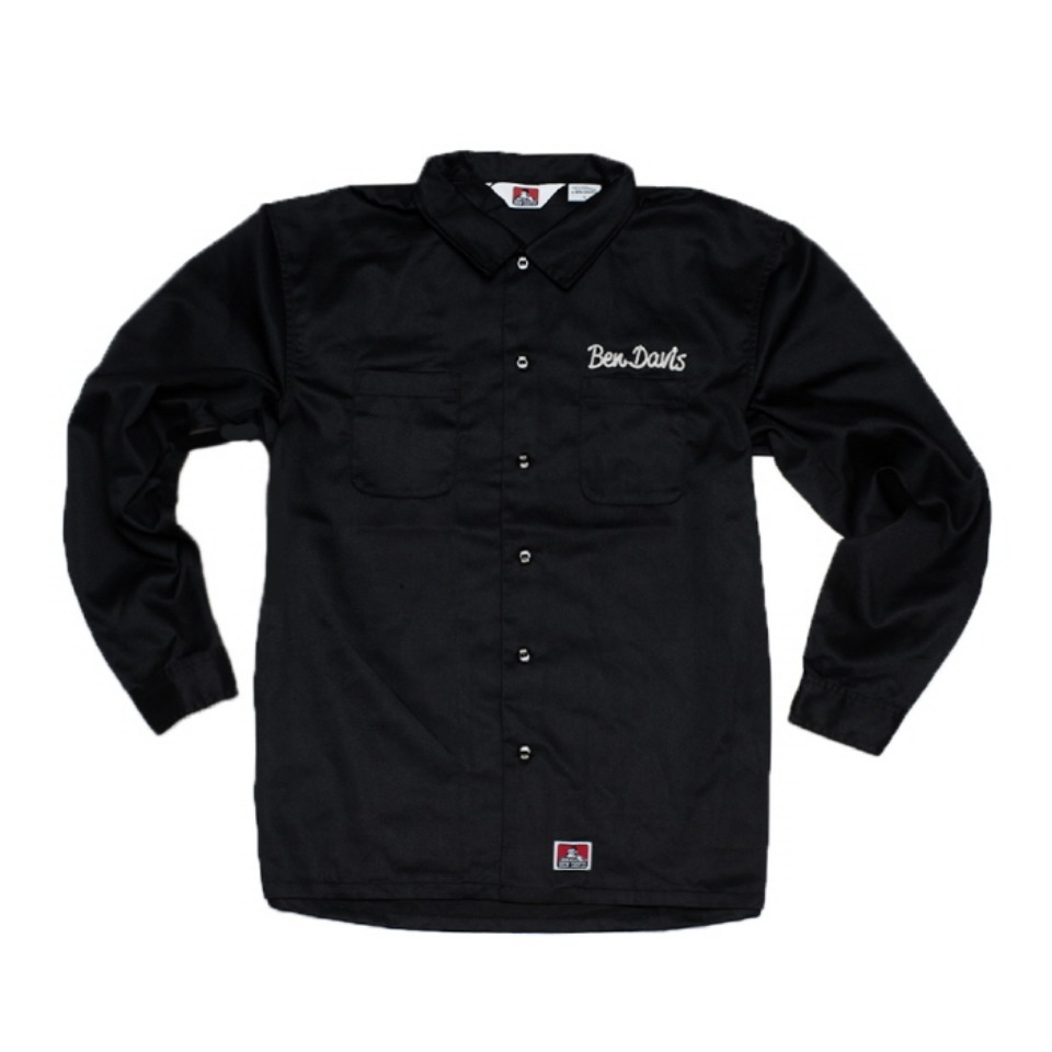 [Ben Davis] WORK SHIRTS - BLACK