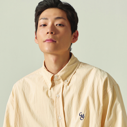 [CHOISI]Cotton Loose Fit Shirt, Beige