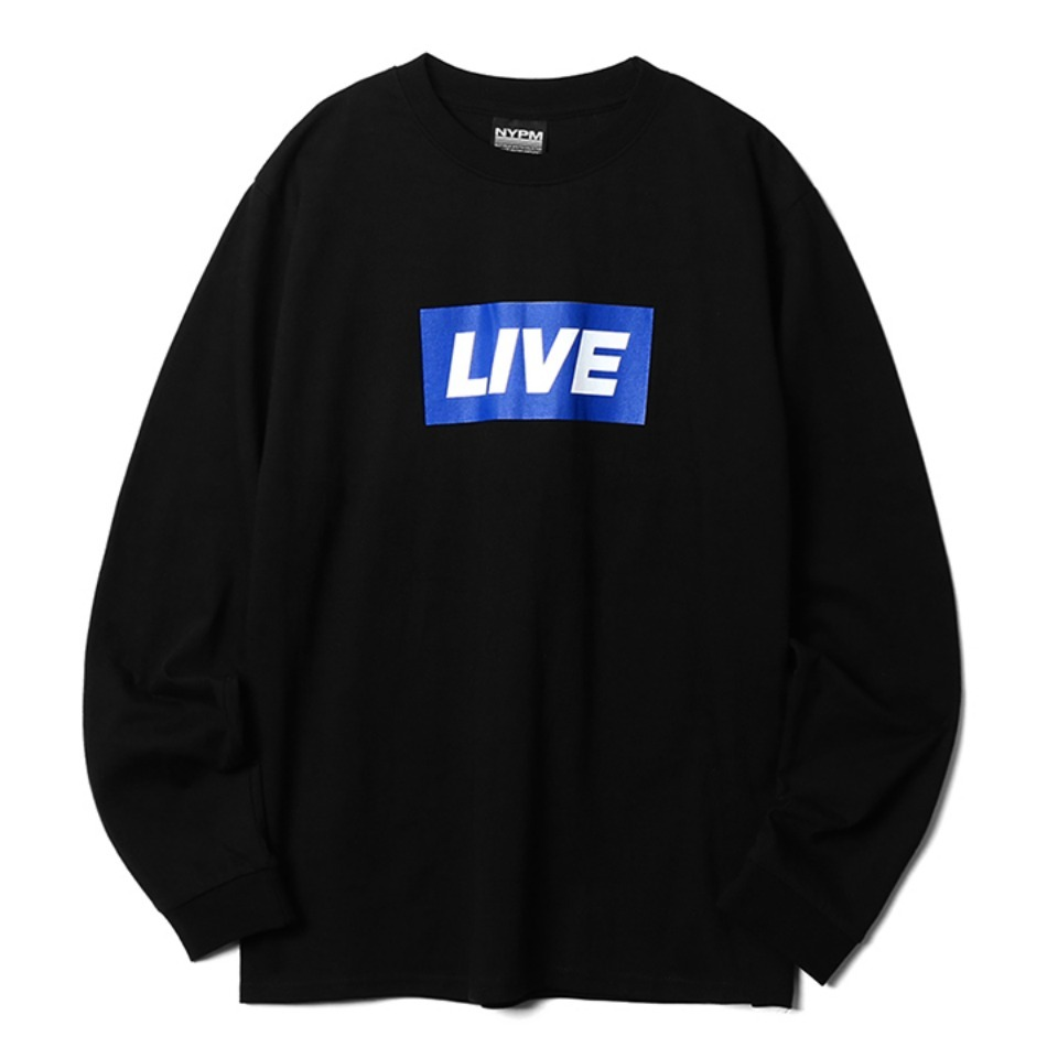 [NP] NEWS BANNER LONG SLEEVE BLACK (NP18A059H)