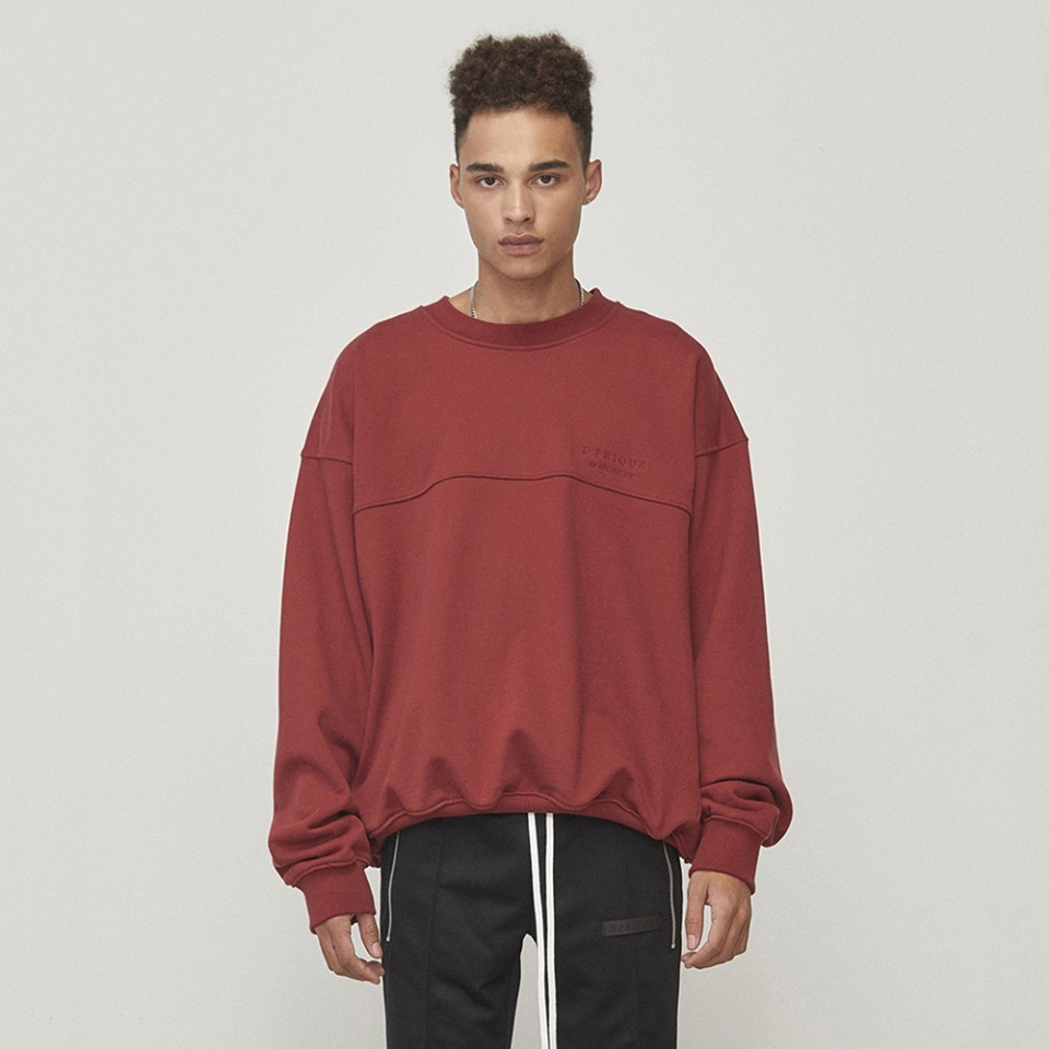 [D.PRIQUE] Oversized Sweatshirt Red (D18F112)