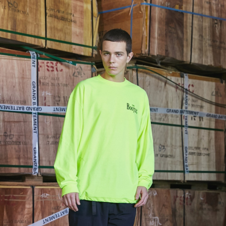 [GRAND BATTEMENT]BOOTLEG long sleeve T-shirts safety green