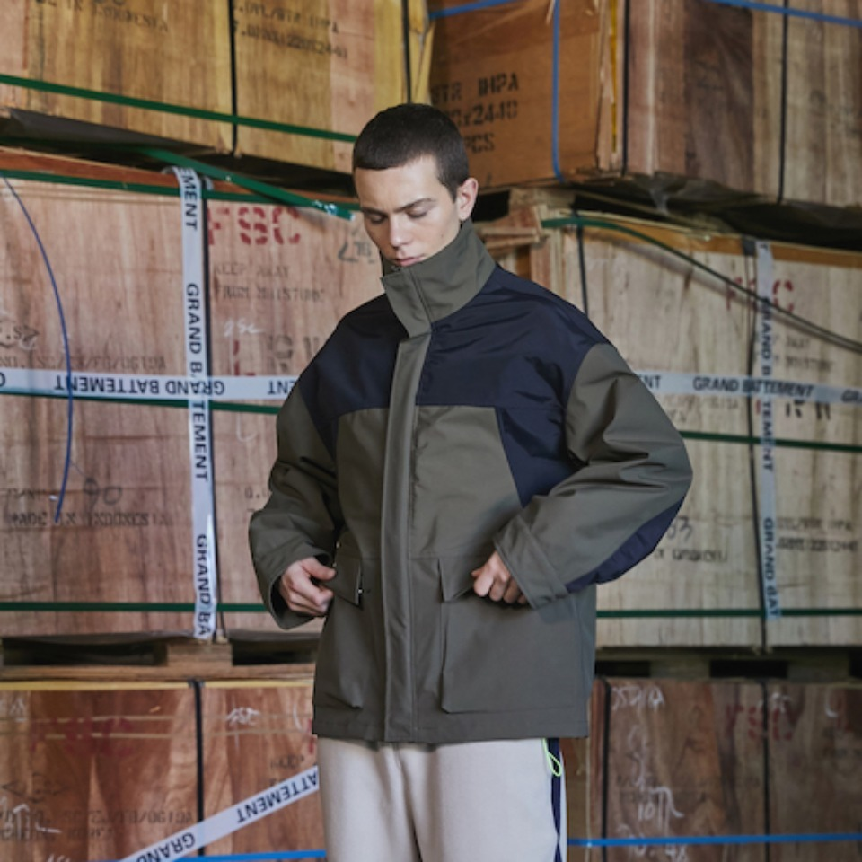 [GRAND BATTEMENT]THE NORTH MOUNTAIN 3LAYER jacket khaki