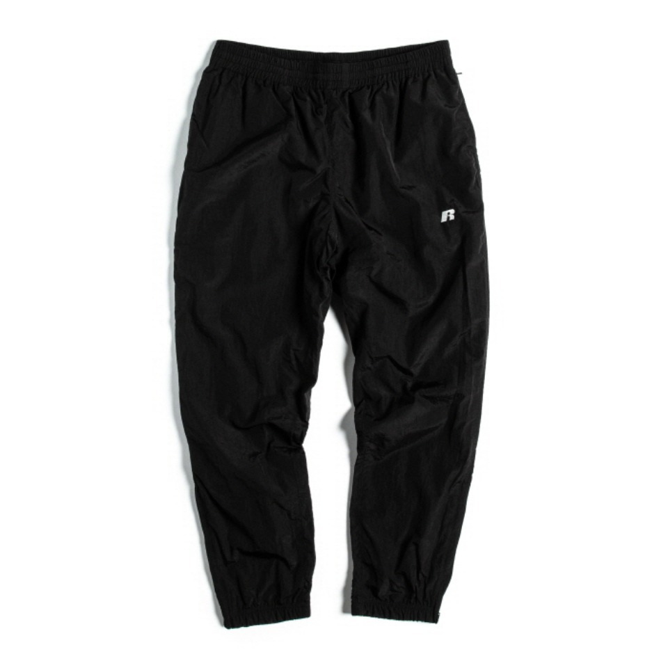 [RUSSELL ATHLETIC] NYLON SHELL TRACK PANTS - BLACK