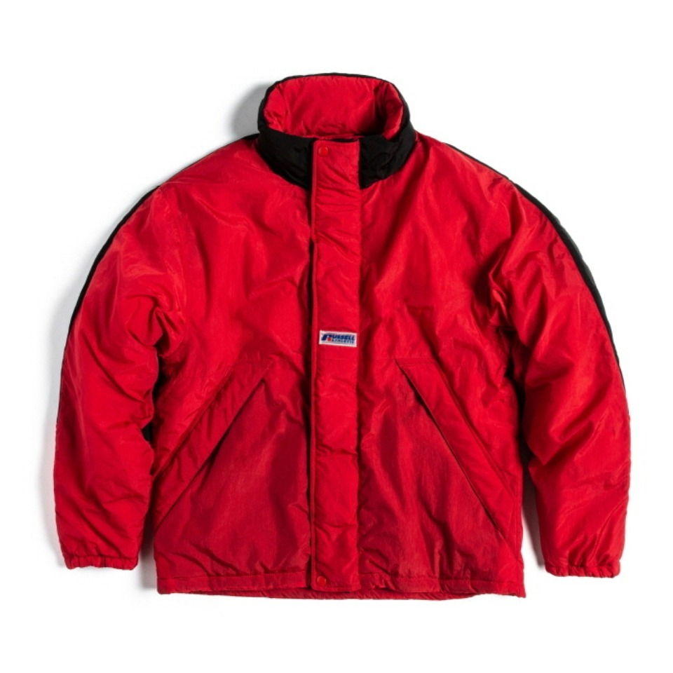 [RUSSELL ATHLETIC] NYLON PUFFER JACKET - REDxBLACK