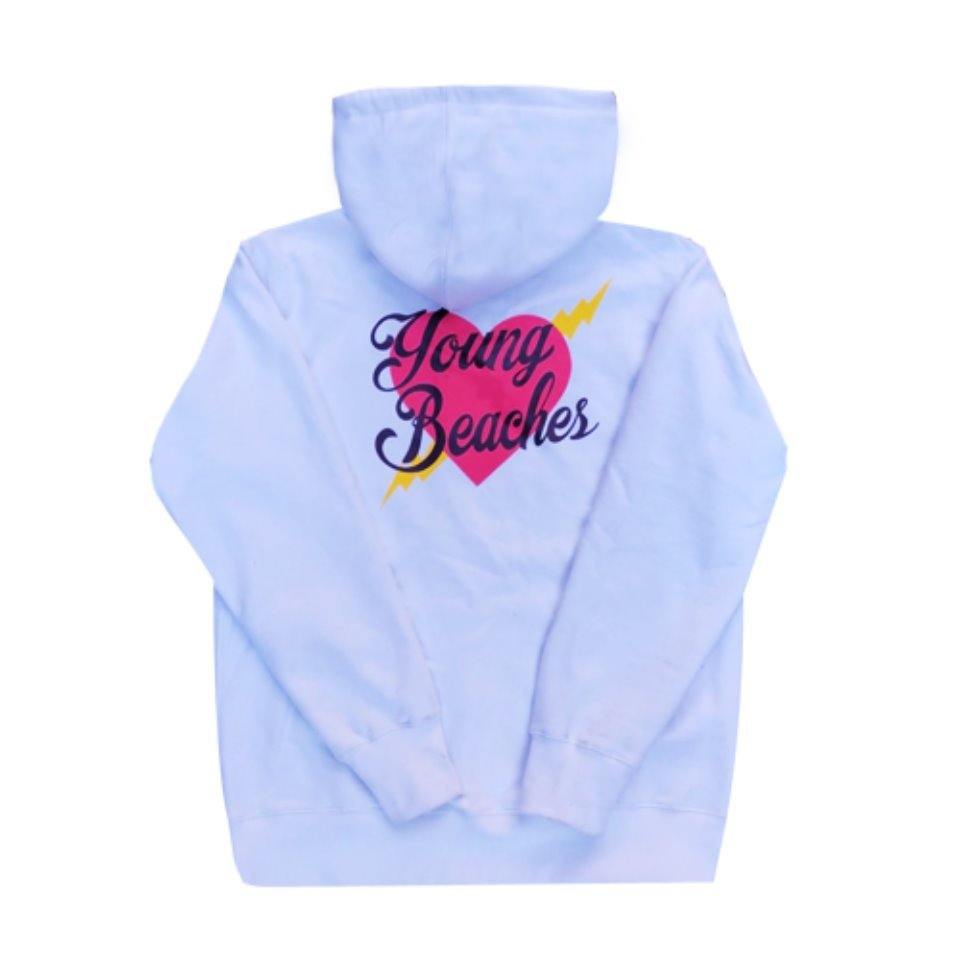 [YBCS] Youngbeaches Heart Thick Hoodie 하트로고후디 (White)