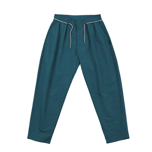 [AJOBYAJO FINK LABEL] Two Tuck Baggy Pants [Turquoise]