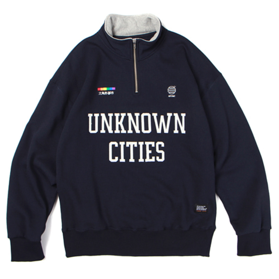 [앱놀머씽] 18 Unknown Half Zipup (Navy)