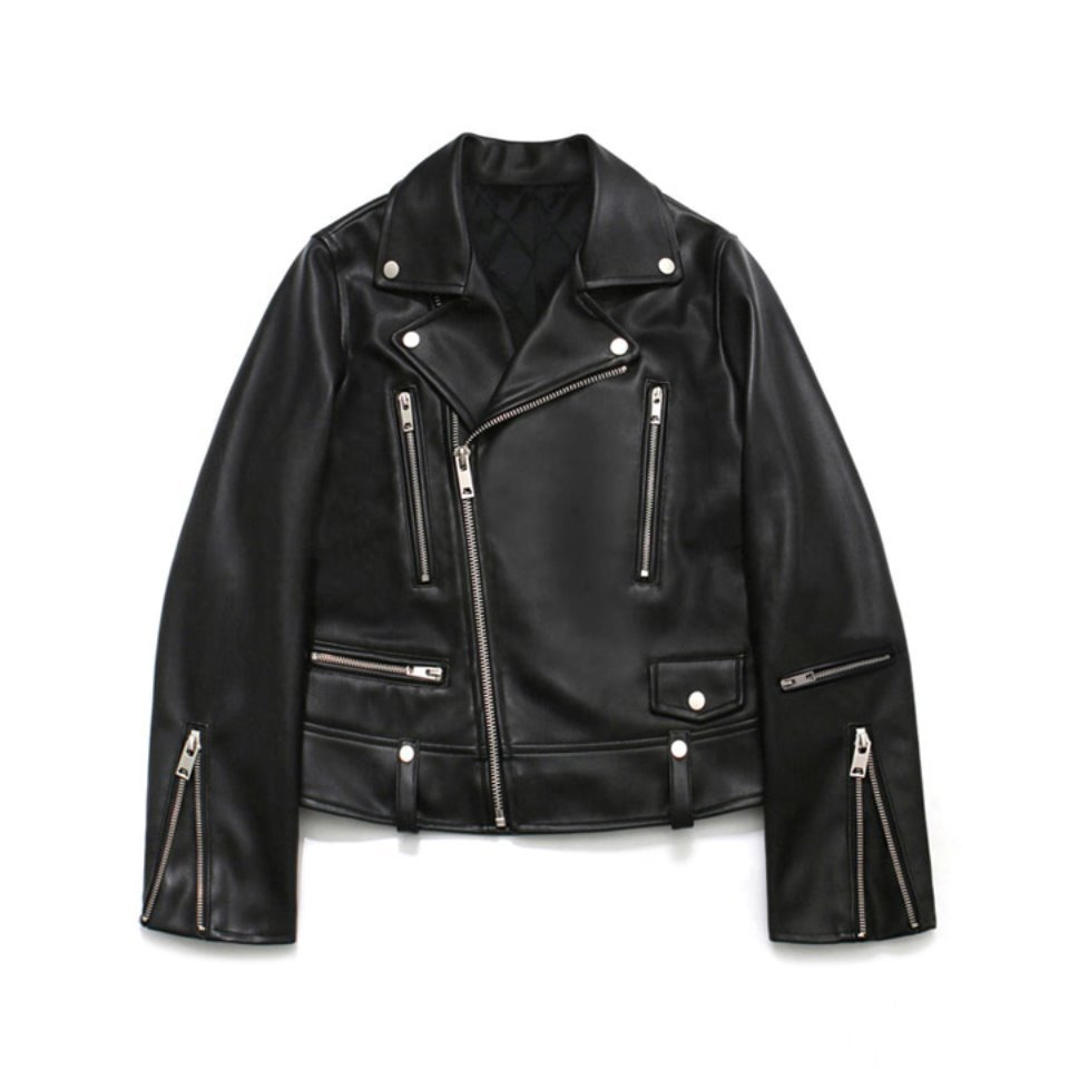 [LAFUDGESTORE] [FW ver.] Leather Zipper Rider Jacket_Woman