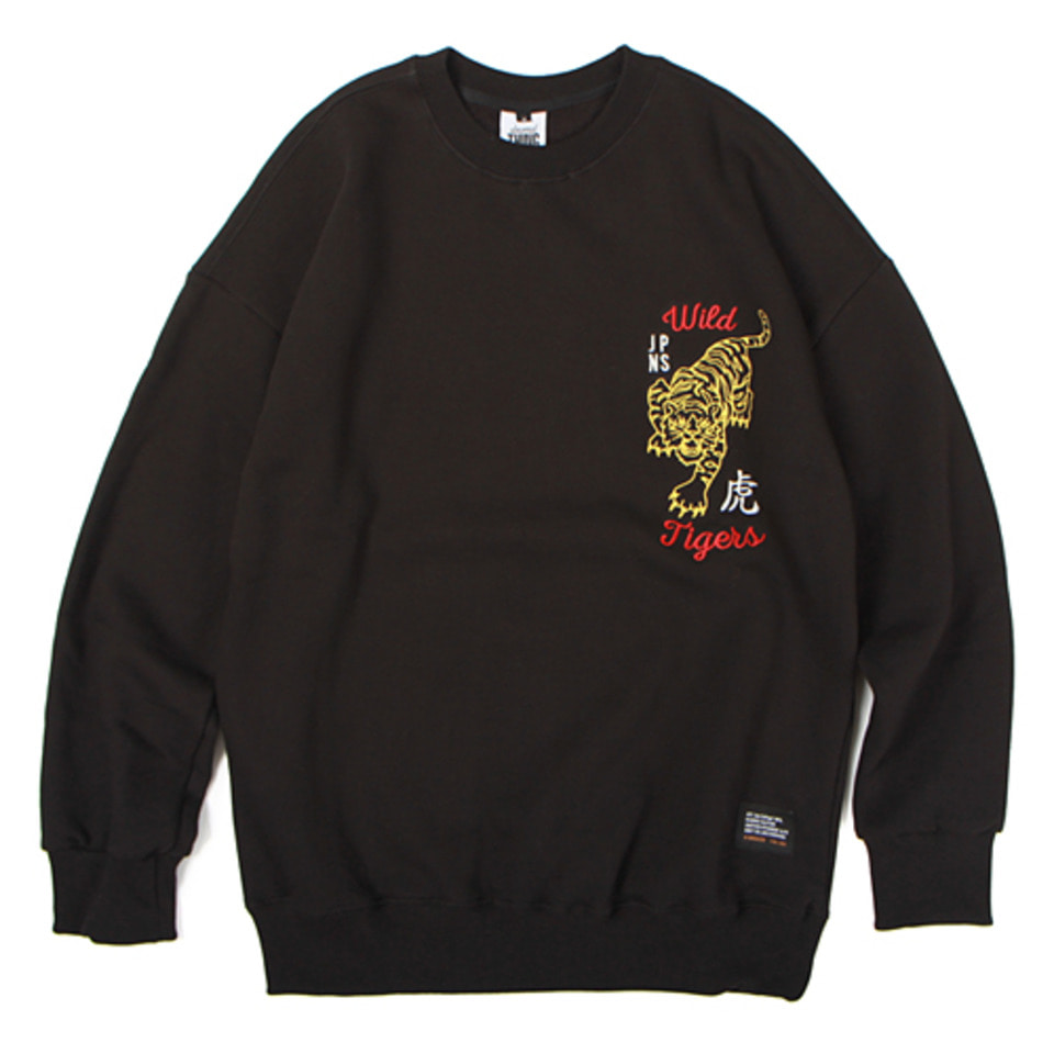 [앱놀머씽] 18 Wild Tiger Crewneck (Black)