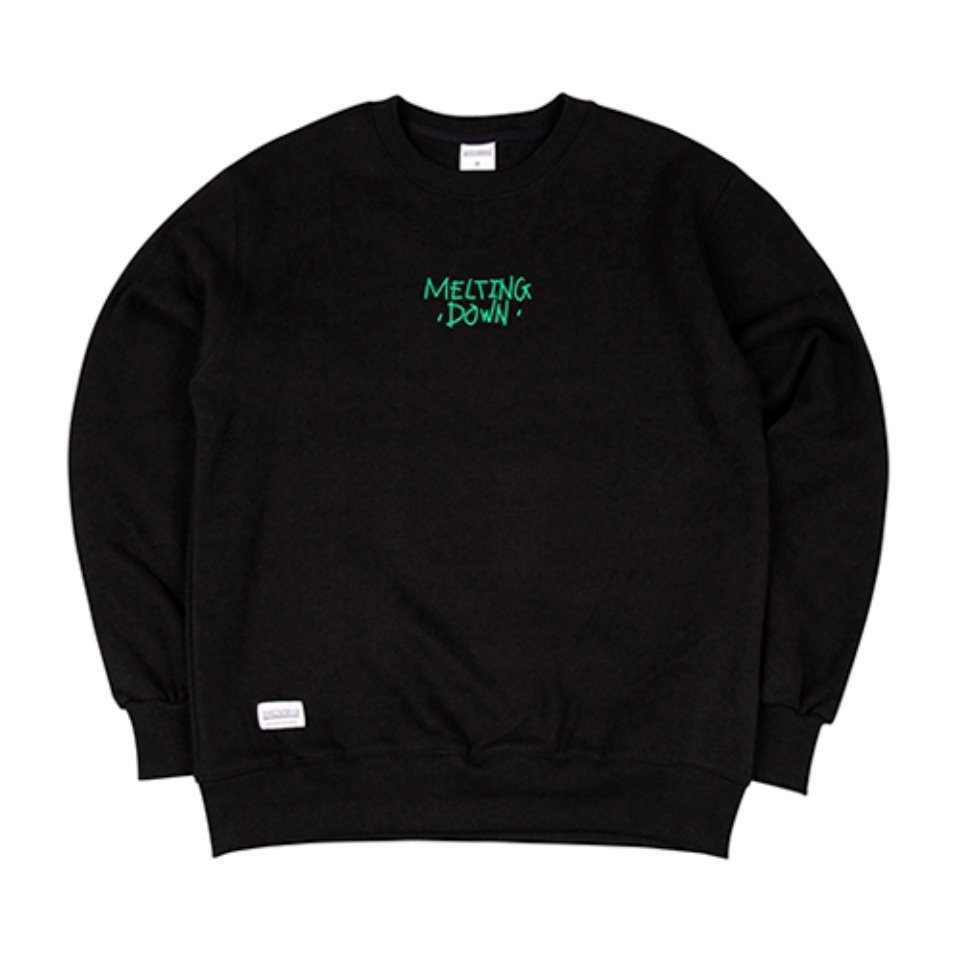 [하운드빌]MELTING DOWN crewneck black (양기모)