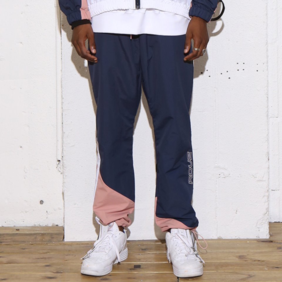 [RENDEZVOUZ] DIAGONAL 3.0 WINDPANTS NAVY
