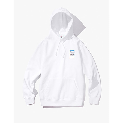 [Have a good time] MINI BLUE FRAME PULLOVER HOODIE - WHITE