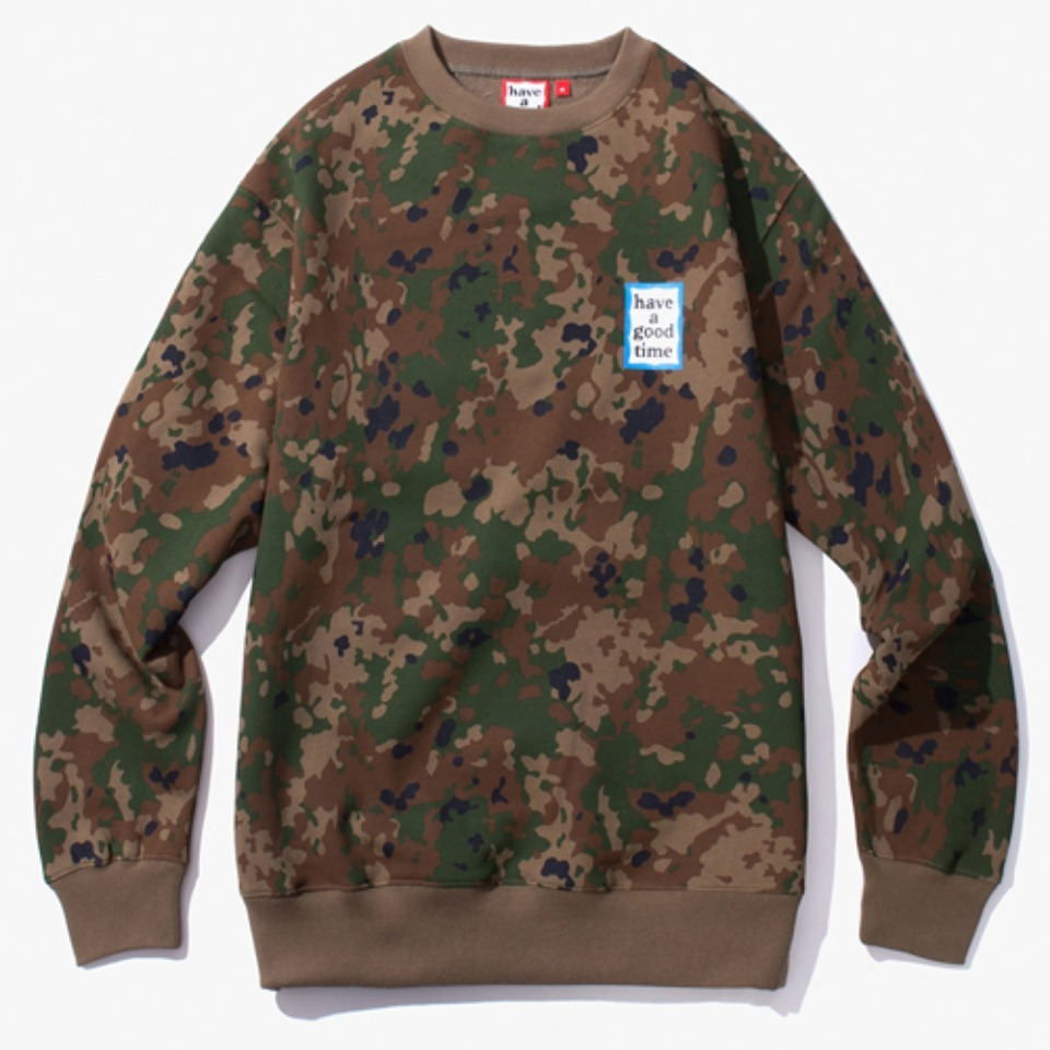 [Have a good time] MINI BLUE FRAME CREWNECK - CAMO