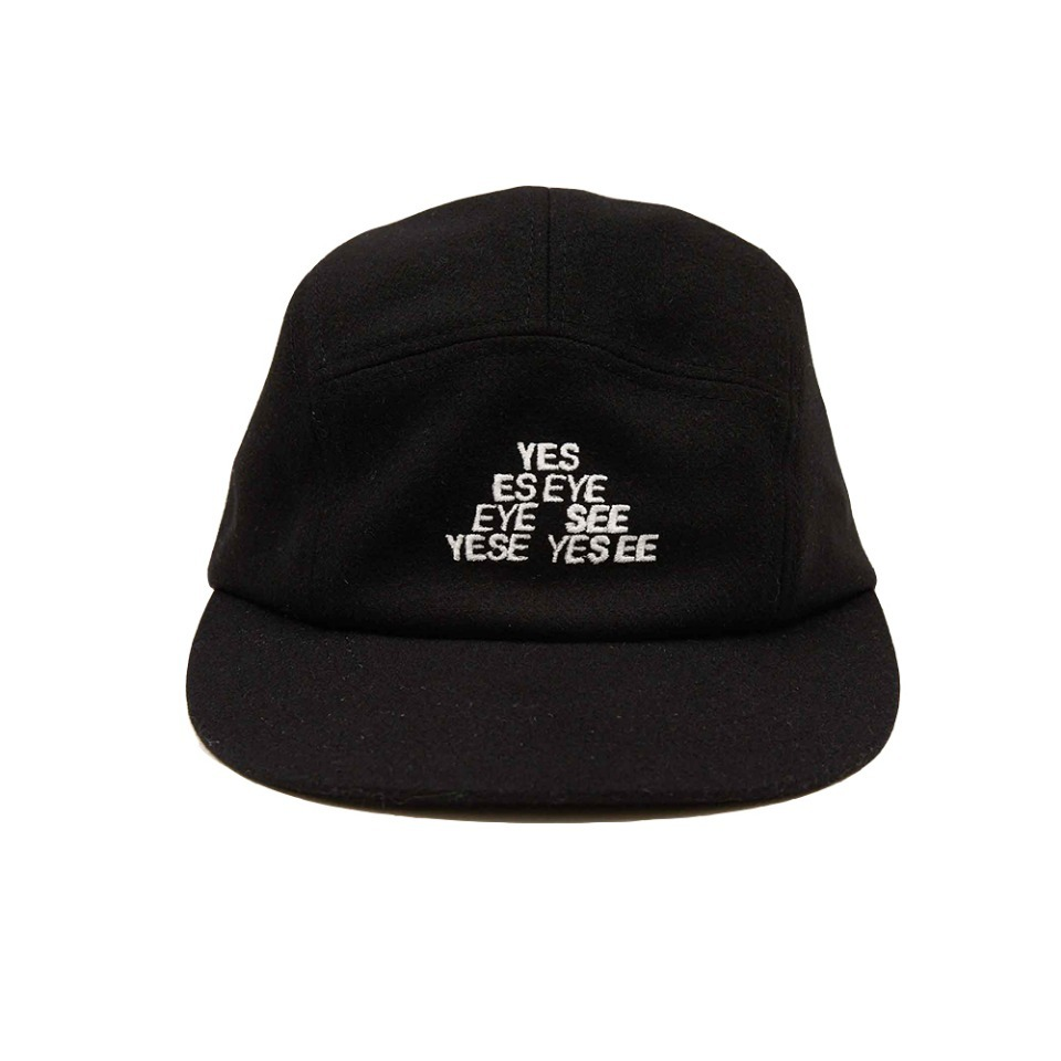 [yeseyesee] TM LOGO WOOL CAMP CAP BLACK