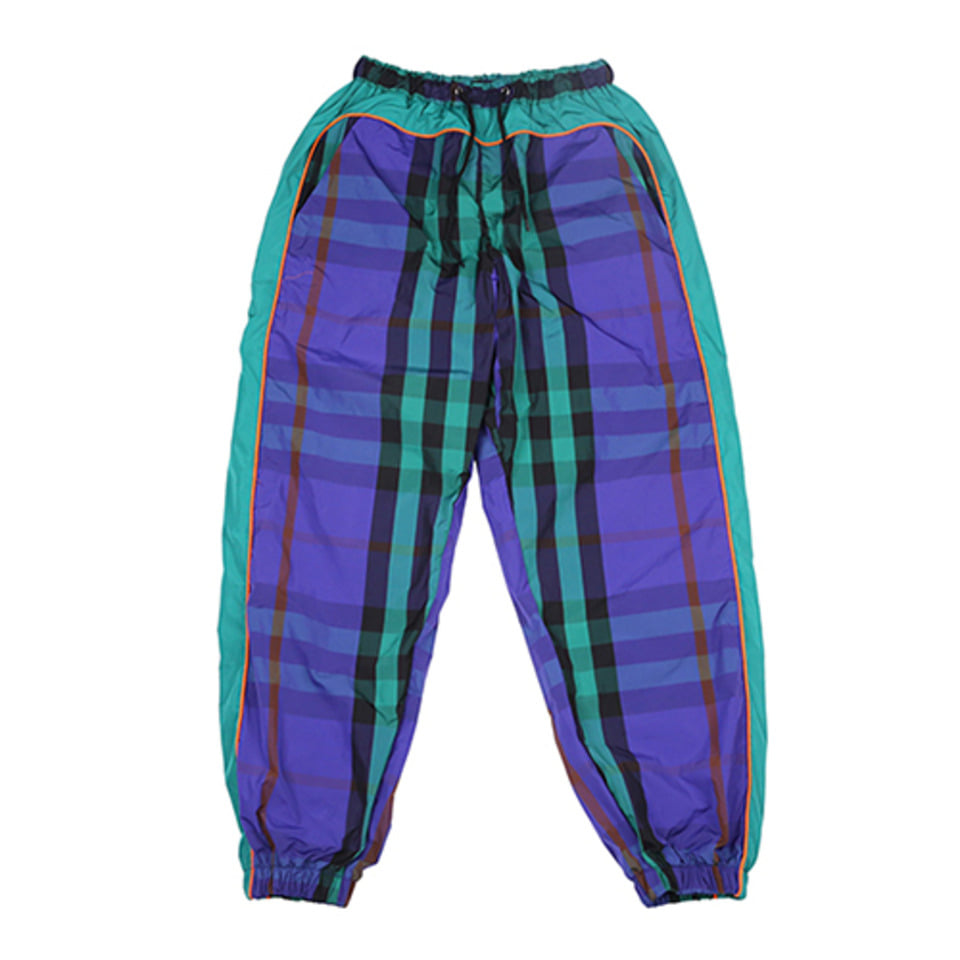 [AJOBYAJO] Check Track Jogger Pants [Purple]