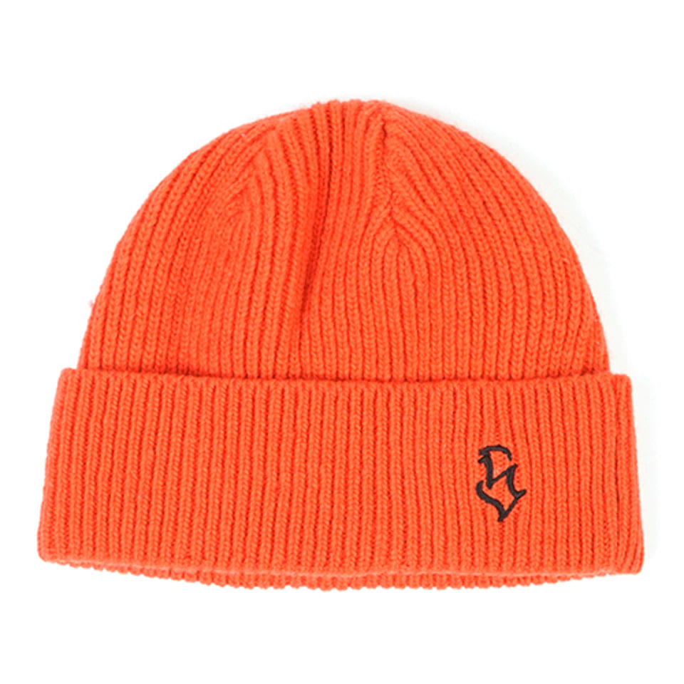 [STIGMA]S - LOGO WOOL SHORT BEANIE - ORANGE