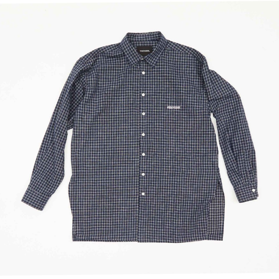 [yeseyesee] EVENING L/SHIRTS NAVY