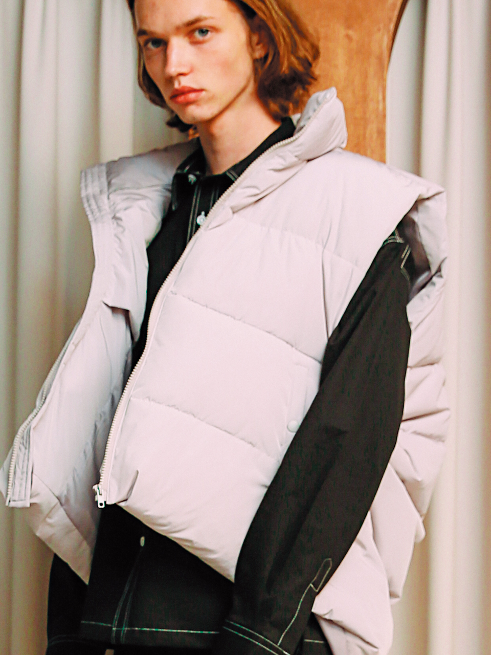 [언아웃핏]UNISEX 3M DUCK DOWN PADDING VEST GRAY