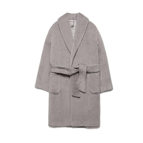 [LAFUDGESTORE] Teddy Bear Robe Coat_Gray