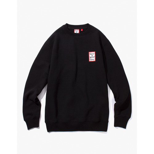 [해브어굿타임] MINI FRAME CREWNECK - BLACK