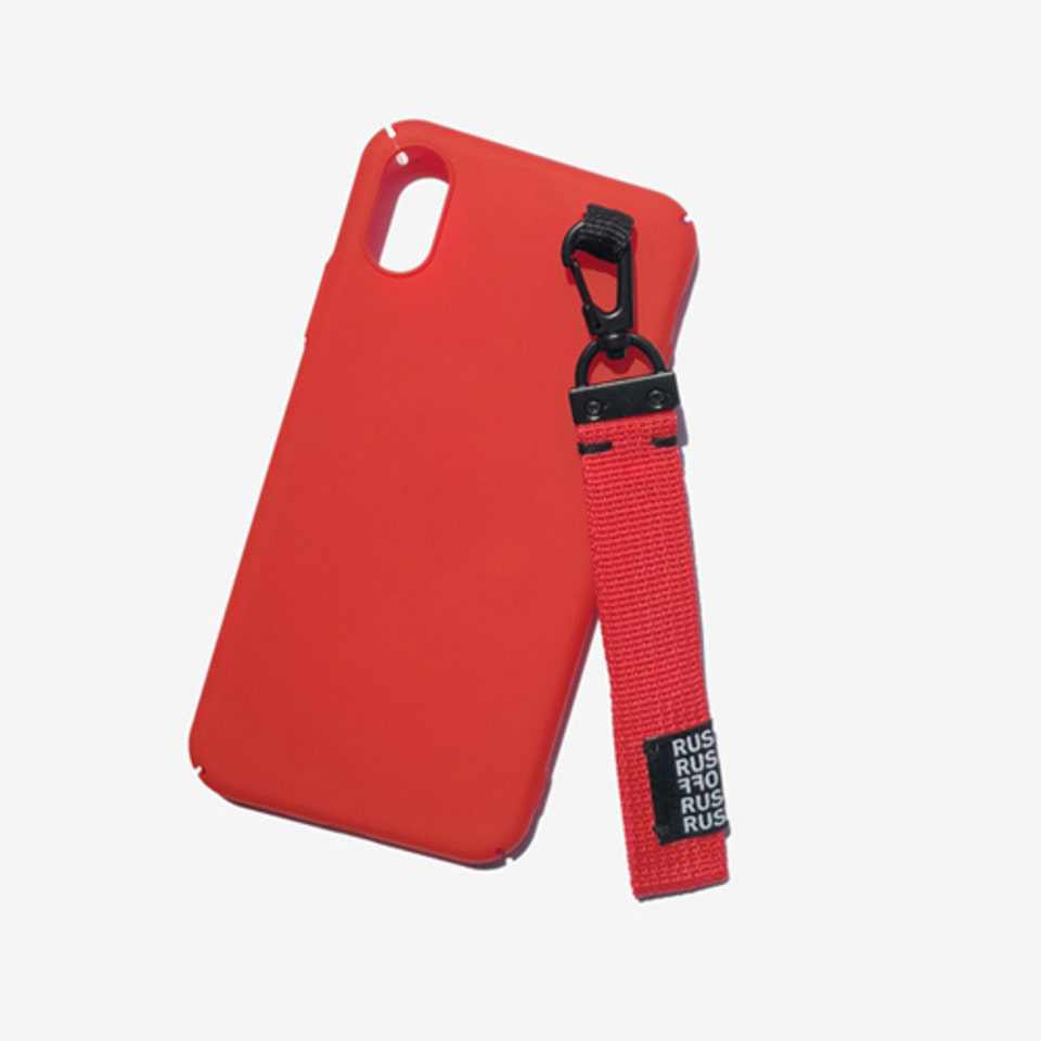 [RUSHOFF] Unisex Casual Belt Keyring I-Phone Case-Red / 캐주얼 벨트키링 아이폰케이스- 레드