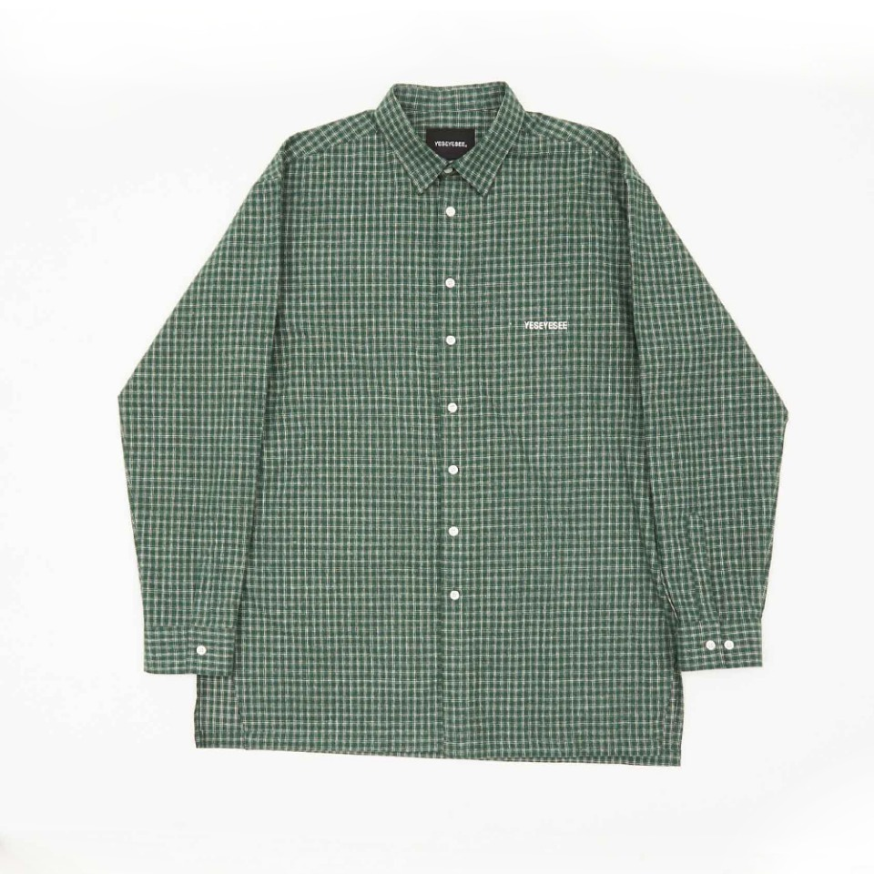 [yeseyesee] EVENING L/SHIRTS GREEN