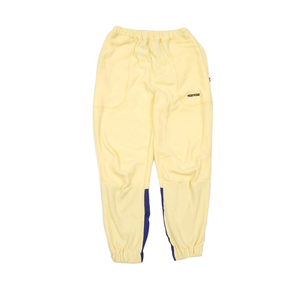 [yeseyesee] FLEECE JOGGER PANTS YELLOW